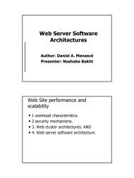 Web Server Software Architectures - UMKC School of Computing ...