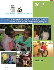 Status of Implementation of the ECD Policy in Uganda - Ministry of ...