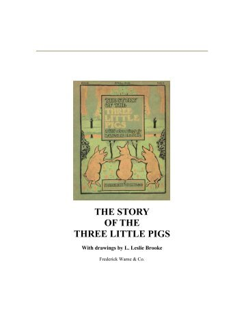 THE STORY OF THE THREE LITTLE PIGS - Yesterday Image