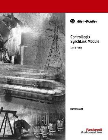 1756-UM521B-EN-P, ControlLogix SynchLink Module User Manual