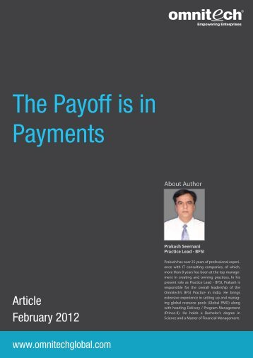The Payoff is in Payments - Omnitechglobal.com