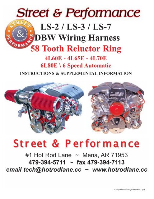 wire harness instruction ls 2 3 7 drive by wire 58 tooth harness instruction street  ls 2 3 7 drive by wire 58 tooth harness