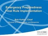 EMERGENCY PREPAREDNESS FINAL RULE - EMForum.org