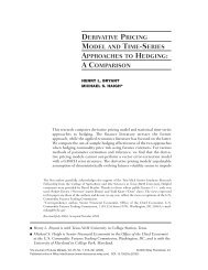 Derivative pricing model and time-series approaches to hedging: A ...