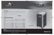 C-220i / C-220Ci Manual - Fellowes