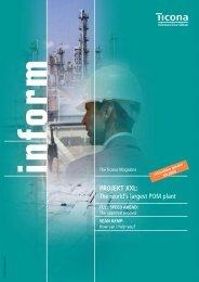 The world's largest POM plant - KD Feddersen Holding GmbH