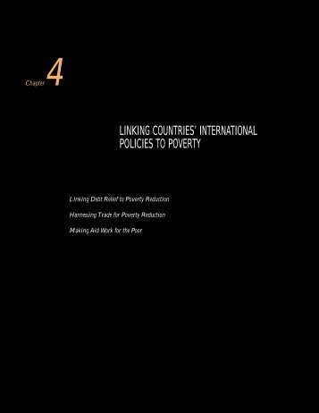 LINKING COUNTRIES' INTERNATIONAL POLICIES TO POVERTY