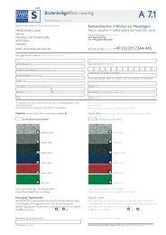 Bodenbeläge/Floor covering Zurück an Fax/Fax to: + ... - Messe Essen