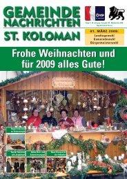 Gemeindezeitung Winter 2008 (4,93 MB) - St. Koloman