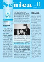 november 2003 číslo - Mesto Senica