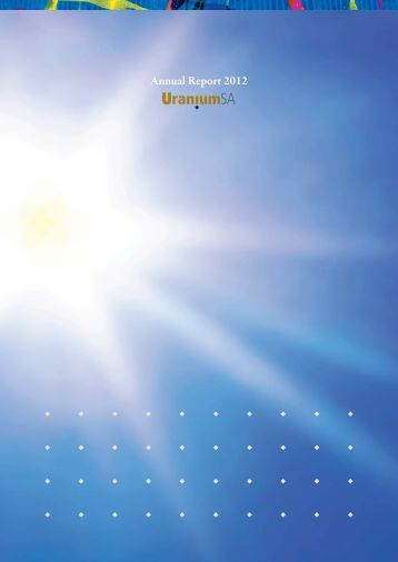Annual Report 2012 - UraniumSA