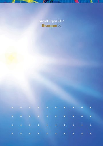 Annual Report 2012 - UraniumSA
