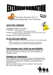 Elterninformation November - Dezember 2011