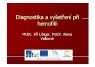 Diagnostika a vyšetření při hemofilii