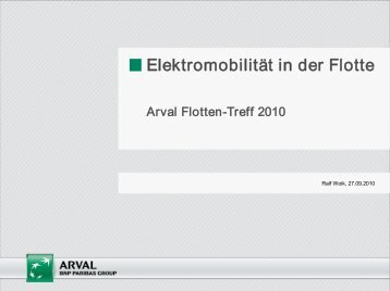 Elektromobilität in der Flotte - Arval
