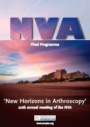 'New Horizons in Arthroscopy' - Nederlandse Vereniging voor ...