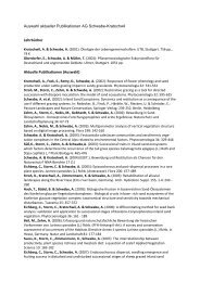 Auswahl aktueller Publikationen AG Schwabe-Kratochwil ...