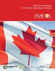 State of the Nation: K-12 Online Learning in Canada - iNACOL