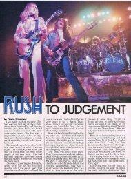 Rush to Judgement - Cygnus-X1.Net