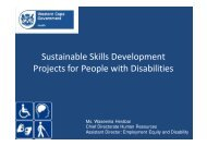 HWSETA presentation on creating projects for people with disabilities