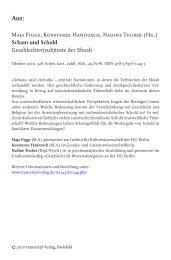 Scham und Schuld - transcript Verlag