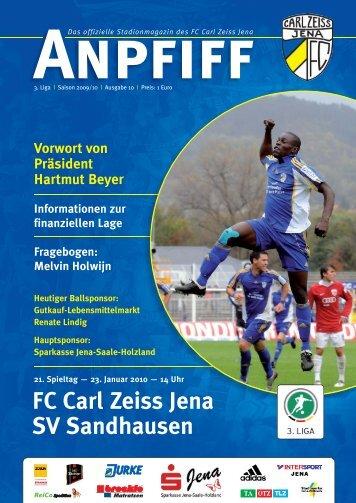 FC Carl Zeiss Jena SV Sandhausen