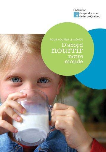 nourrir - Fédération des producteurs de lait du Québec
