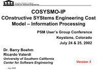 COSYSMO-IP Workshop (version 3) - Center for Software ...