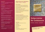 Stolpersteine für Gelnhausen - Ein Stein – ein Name