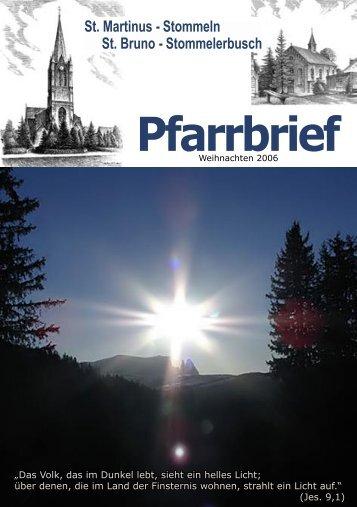 Pfarrbrief - St. Martinus Stommeln