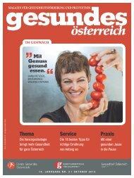 Magazin Gesundes Österreich Ausgabe 3/2012 - Fonds Gesundes ...
