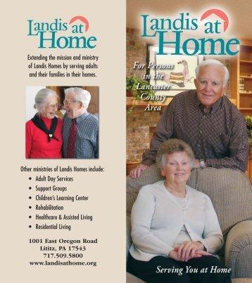 Landis At Home final brochure - Landis Homes