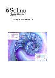 Solmu 2/2006 - Matematiikkalehti Solmu - Helsinki.fi