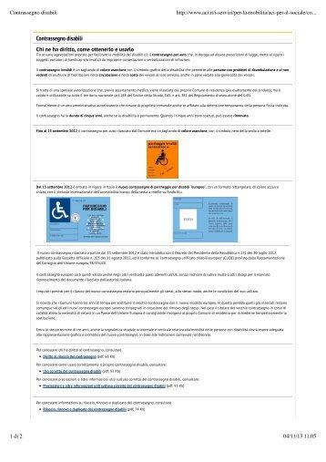 Contrassegno disabili - Criba