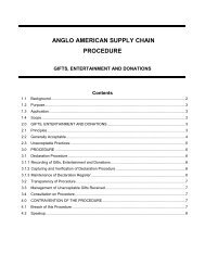 Gifts Donations and Entertainment Procedure May ... - Anglo American