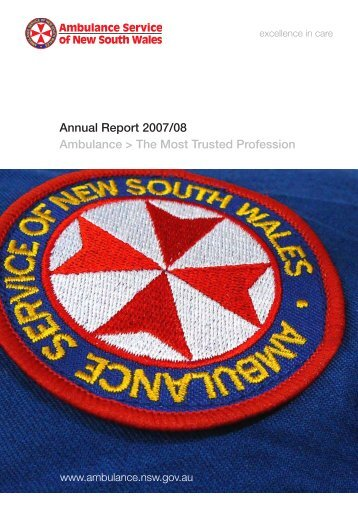 Annual Report - 2007/08 Summary - Ambulance Service of NSW