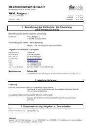EU-SICHERHEITSDATENBLATT PHOS, Reagenz 1 - diatools AG