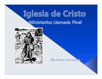 El discipulo y su servicio.pdf - IGLESIA DE CRISTO - Ministerios ...