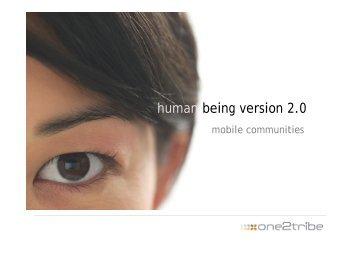 human being version 2.0