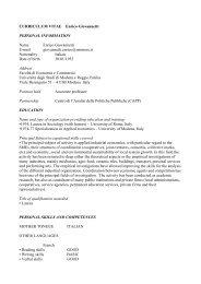 Curriculum vitae - Centro di analisi delle politiche pubbliche ...