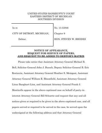 Notice of Appearance - MLive.com