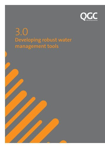3.0 - Developing robust water Management tools - QGC