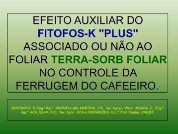 """fitofos-k """"plus"""" - Fundação Procafé"""