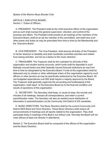 booster club bylaws onondaga central schools