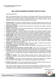MOL GROUP BUSINESS PARTNER CODE OF ETHICS - Ies