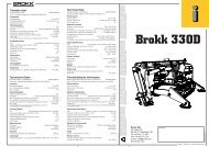 Caractéristiques techniques Technische Daten Tekniska ... - Brokk