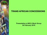 Annex 6: Trans African Concessions - MCLI