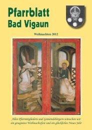Pfarrblatt WEIHNACHTEN 2012 - Bilder - Pfarre Bad Vigaun