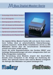 M-Bus Digital Master Serie - Relay GmbH