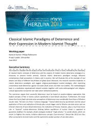 Classical Islamic Paradigms of Deterrence and their Expression in ...